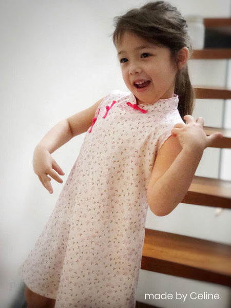 Girls Sleeveless Qipao