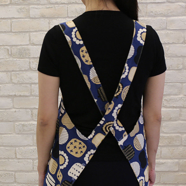 Reversible Crossback Apron with Straps Back