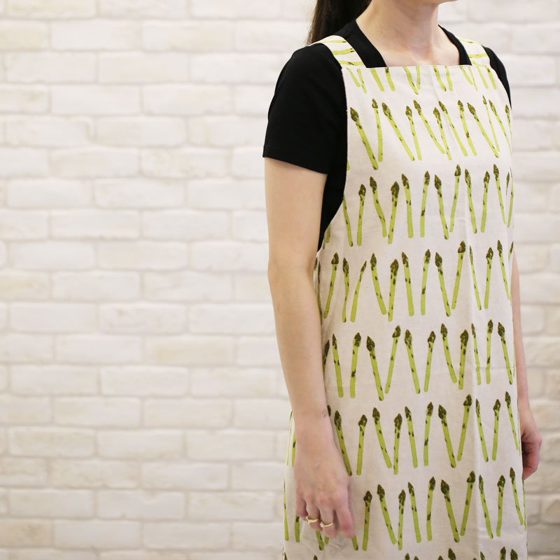 Reversible Crossback Apron with Straps Front