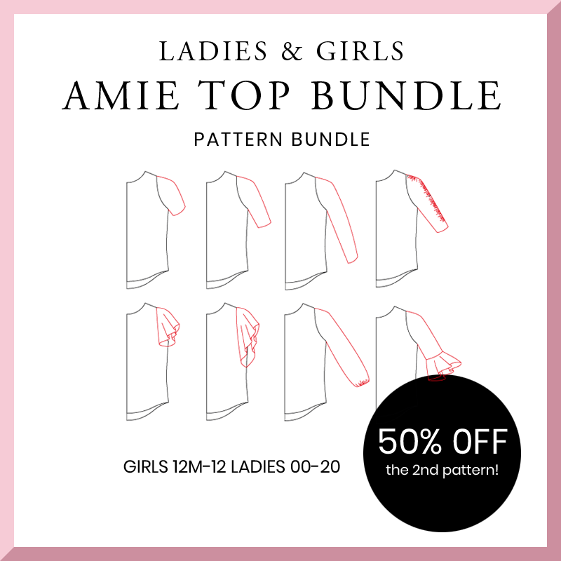 The Amie Top - Ladies and Girls Bundle