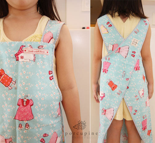 Free Cross Back Apron for kids and adults