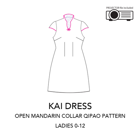 KAI dress - An Open Mandarin Collar Dress