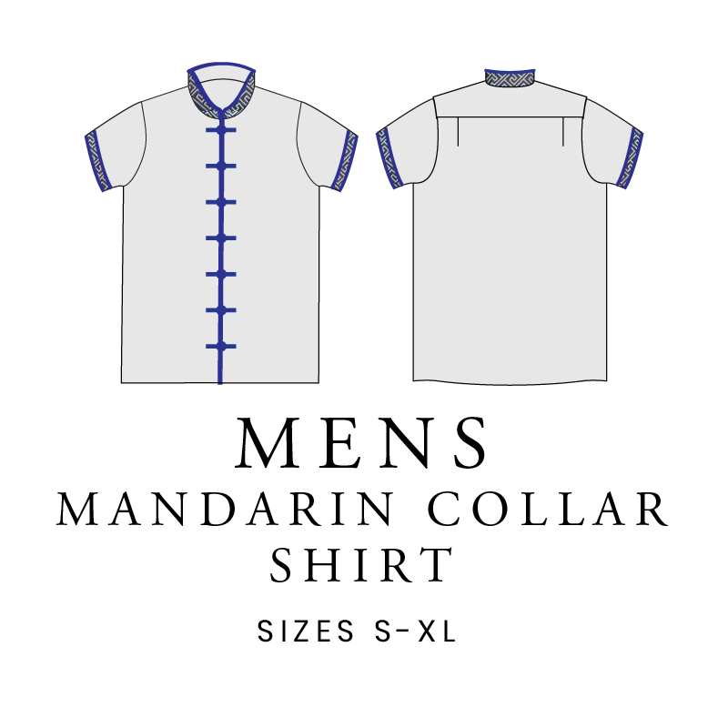 Mens Mandarin Collar Shirt