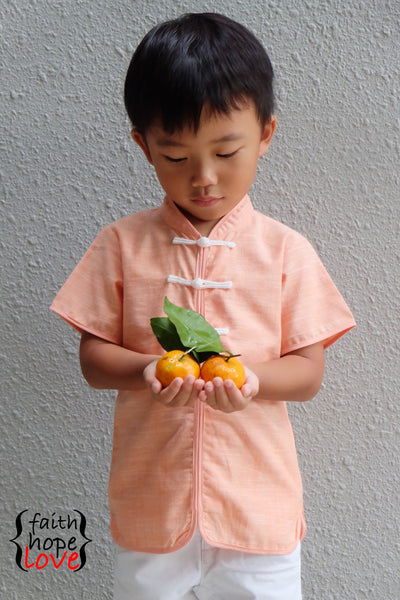Boys Mandarin Collar Shirt PDF Pattern