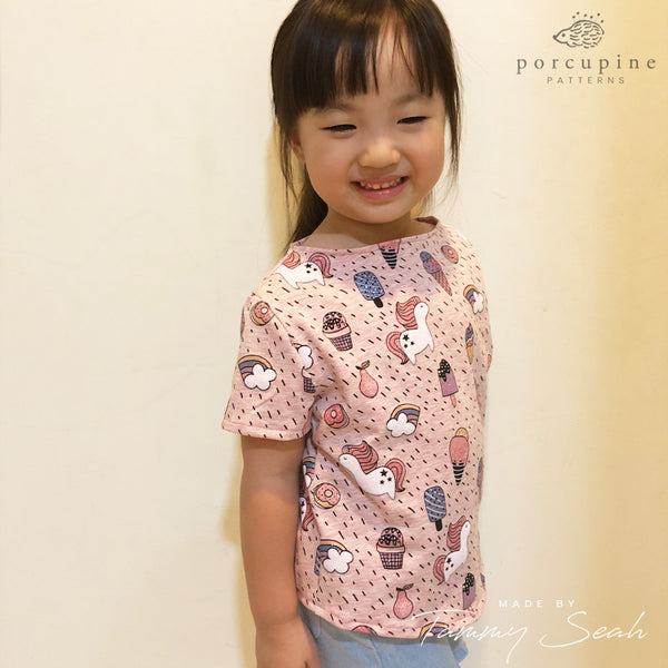 The Amie Top for Girls