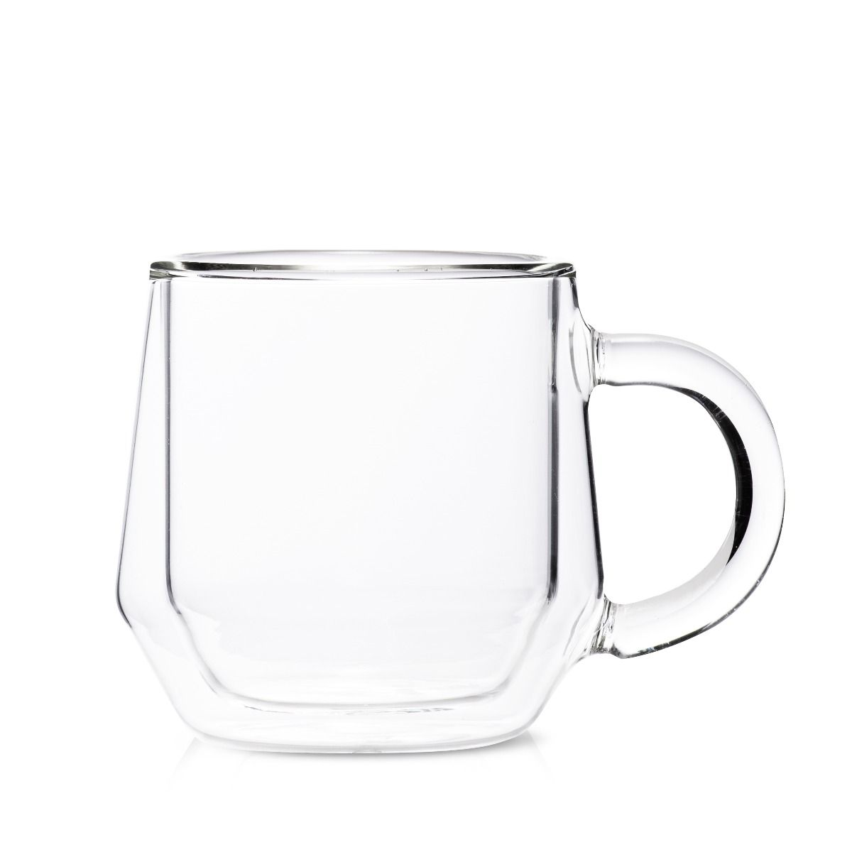 Hearth Set of 2 Latte, 8OZ (240ML), Double Wall Glass