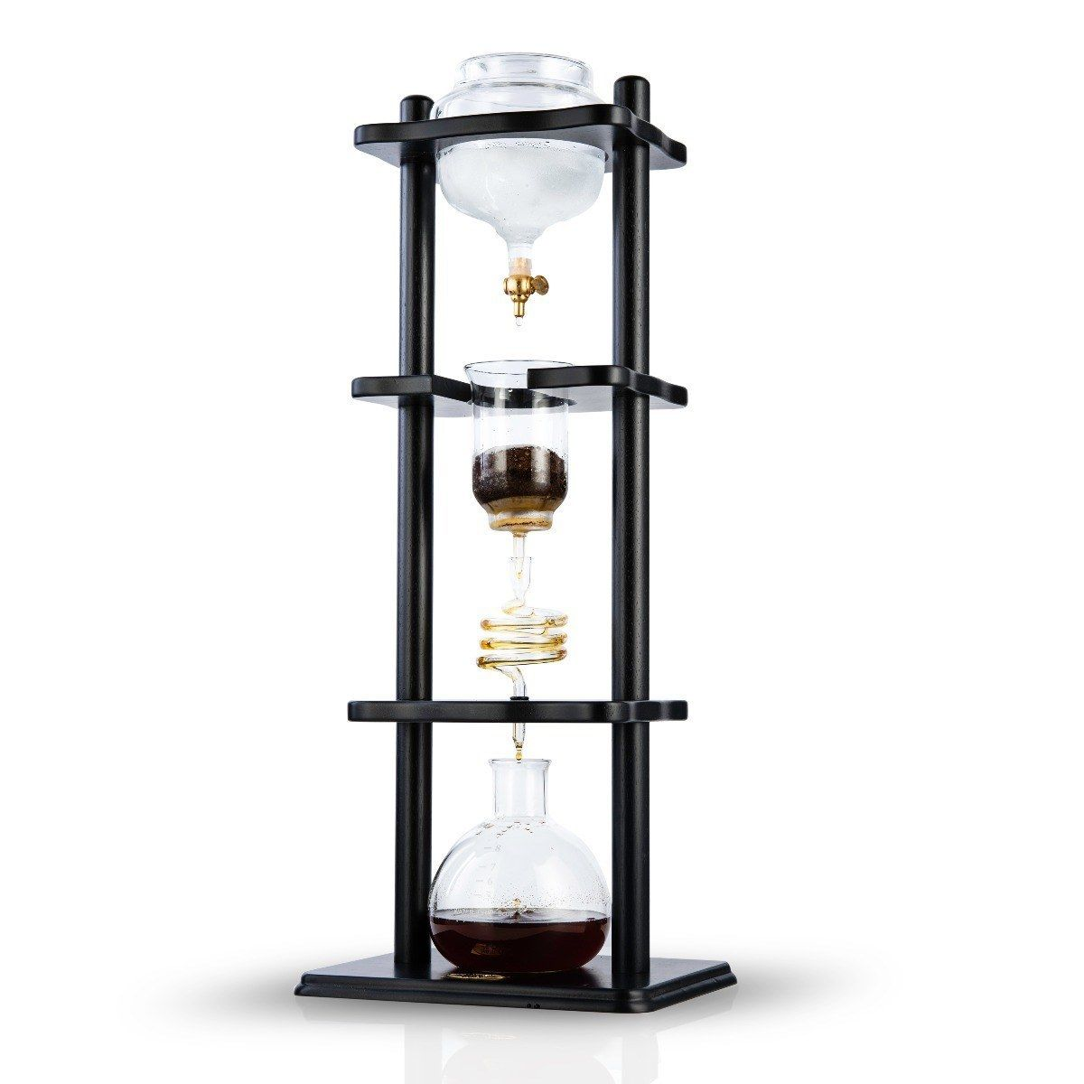 YAMA 6-8 CUP COLD DRIP MAKER STRAIGHT WOOD FRAME (32OZ)