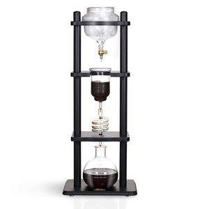 Open image in slideshow, YAMA 6-8 CUP COLD DRIP MAKER STRAIGHT WOOD FRAME (32OZ)