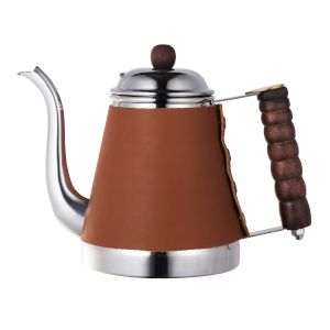 KALITA WAVE STAINLESS STEEL KETTLE 1L - LEATHER WRAP
