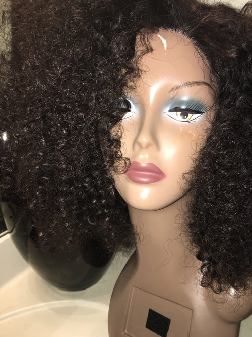 Deep Curl Front Lace Wig