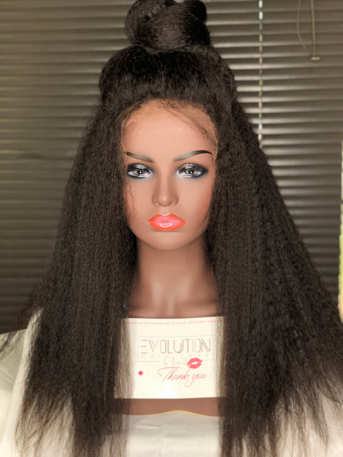 Kinky Straight Front Lace Wig