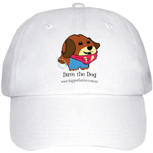 Cap White - Dave the Dog
