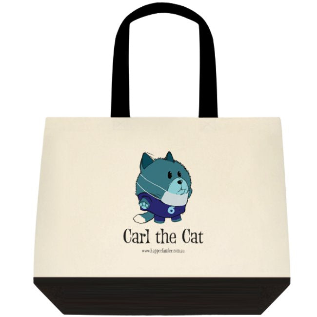 Tote Bag Black and White - Carl the Cat