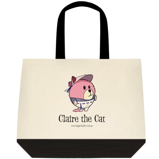 Tote Bag Black and White - Claire the Cat