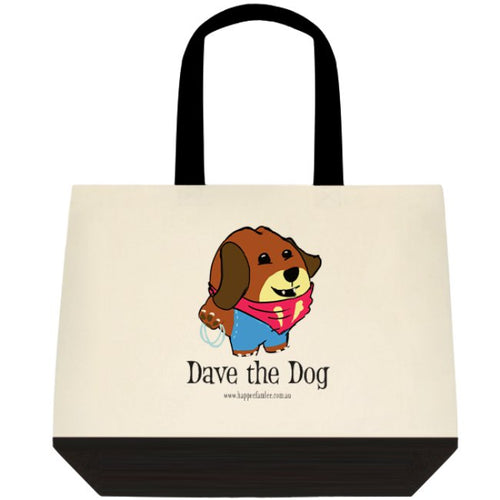 Tote Bag Black and White - Dave the Dog