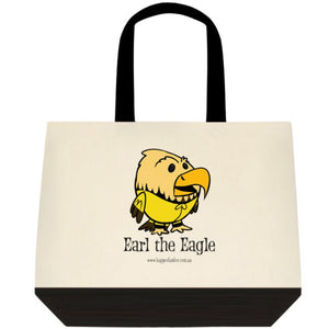 Tote Bag Black and White - Earl the Eagle