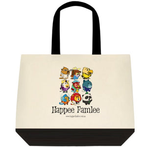 Tote Bag Black and White - Happee Famlee