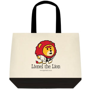 Tote Bag Black and White - Lionel the Lion
