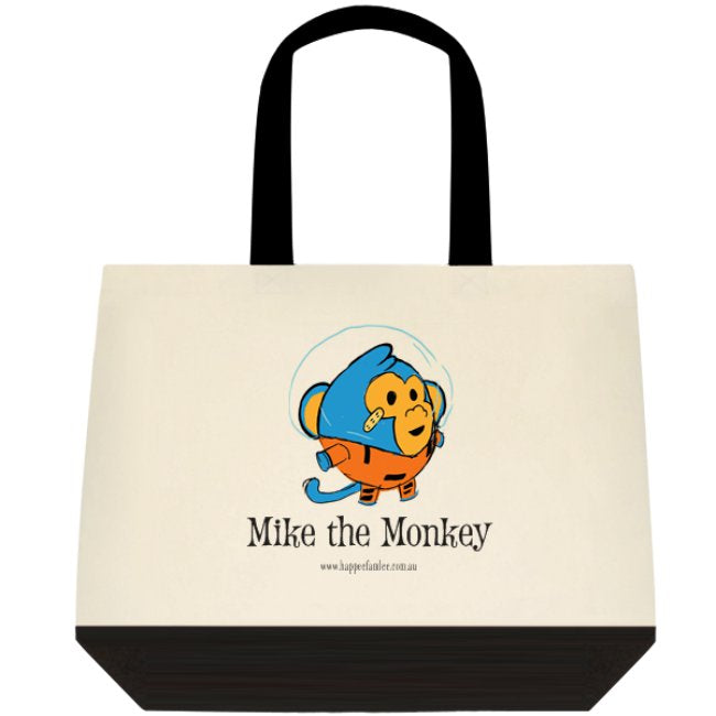 Tote Bag Black and White - Mike the Monkey