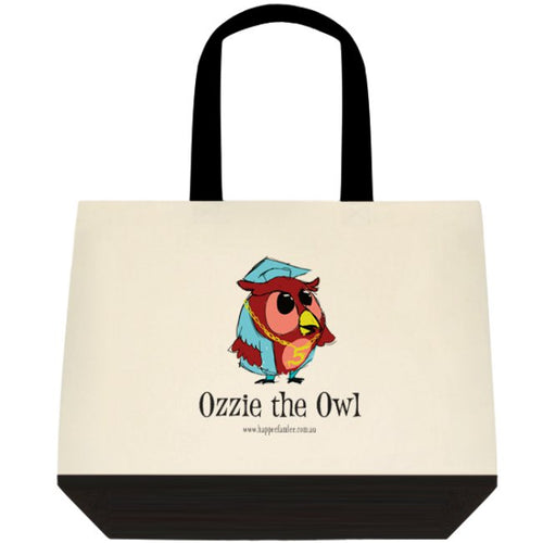 Tote Bag Black and White - Ozzie the Owl