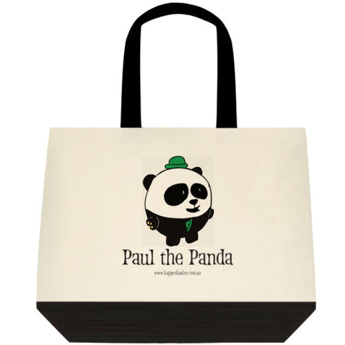 Tote Bag Black and White - Paul the Panda