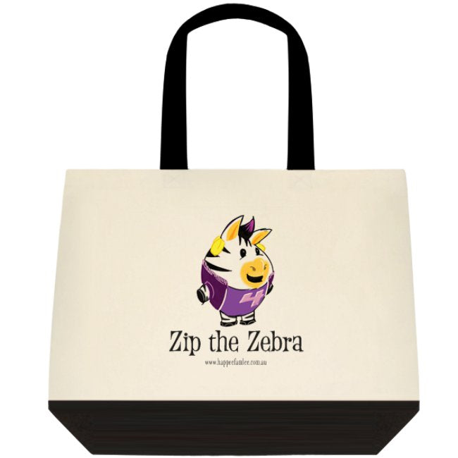 Tote Bag Black and White - Zip the Zebra
