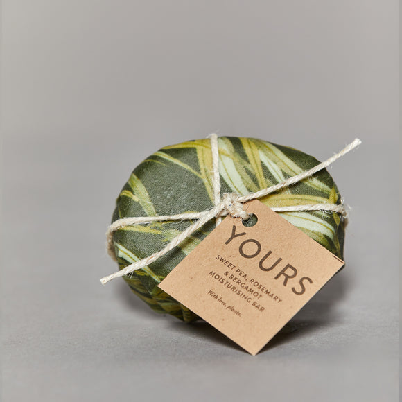 Yours - Moisturising Body Bar - Sweet Pea, Rosemary and Bergamot