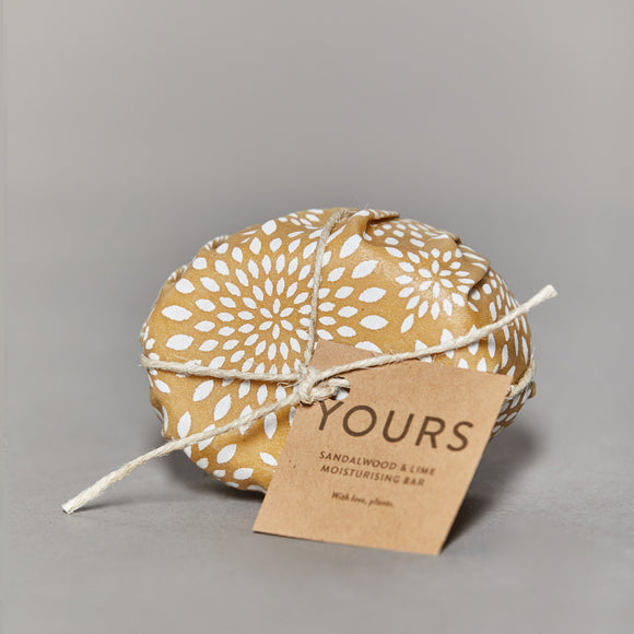 Yours - Moisturising Body Bar - Sandalwood & Lime
