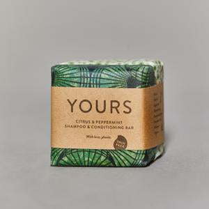 Yours - 2 n 1 Shampoo Bar - Citrus & Peppermint