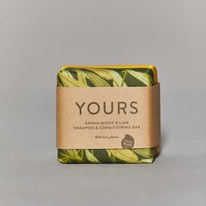 Yours - 2 n 1 Shampoo Bar - Sandalwood & Lime
