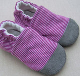Organic Cotton Knit Slippers - 12 to 18 months
