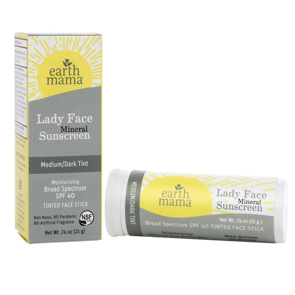 Lady Face Mineral Sunscreen Face Stick -  SPF 40