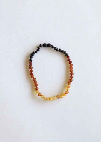 Kids Raw Amber Necklace: 11""