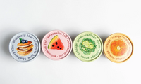 Non-Toxic Organic Food Based Finger Paint: Set of 4