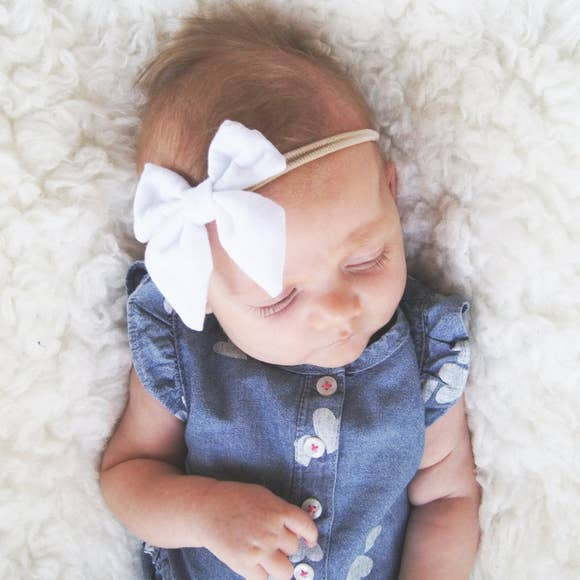 Baby Girl Sailor Bow