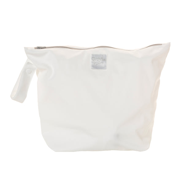 zippered white wet bag grovia kansas city baby co