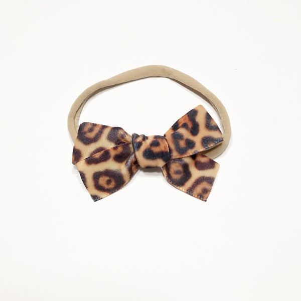 Hand Tied Velvet Bow Headband