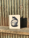 Woodland Creature Family Blank Greeting Cards - Set of 4