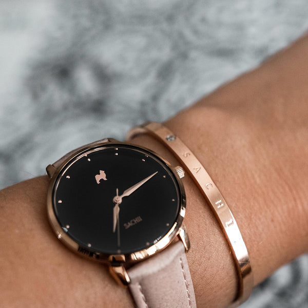 Cosmic Nights + Classic Rose Gold Bracelet