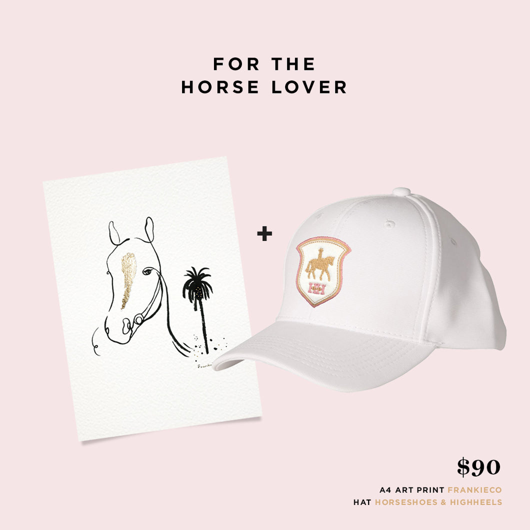 For the 'Horse Lover' - Gift Set A4 + Hat