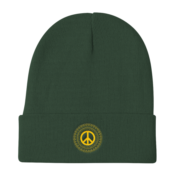 Knit Beanie arabic calligraphy peace and love - Shobbek