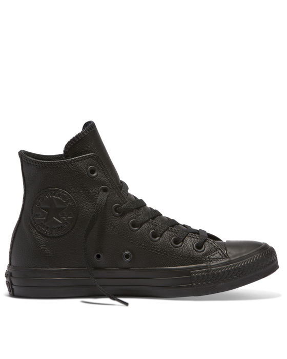 Converse Chuck Taylor Leather High Top - Black Mono