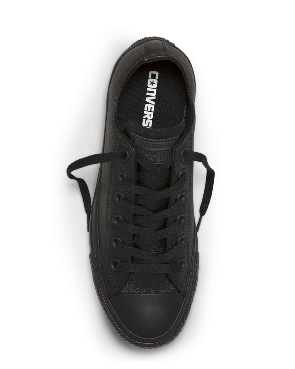 Converse Chuck Taylor Leather Low Top - Black Mono