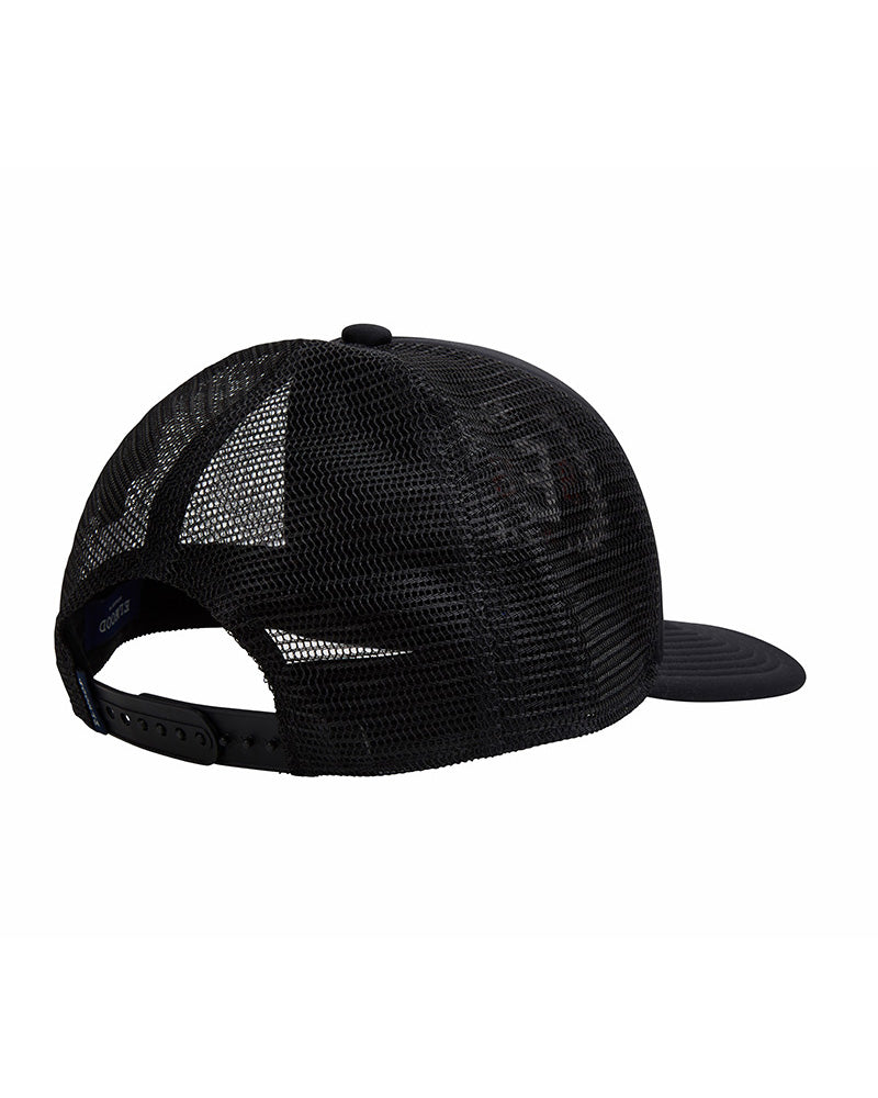 Elwood Austin Trucker Cap is a black cap with E logo on front.
