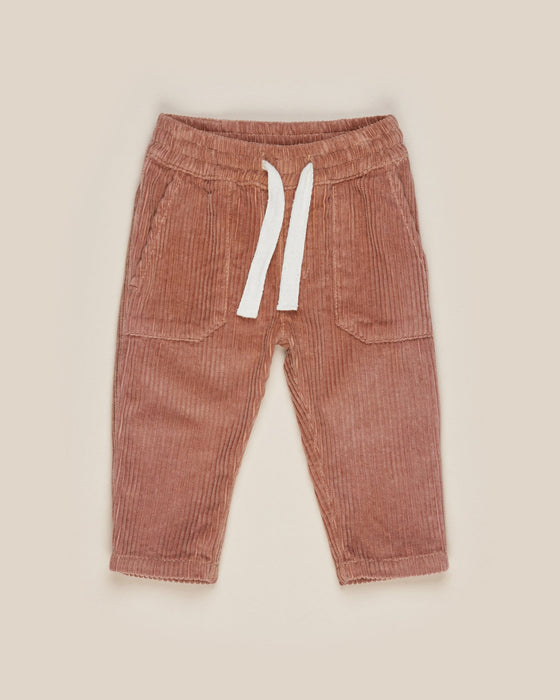 Huxbaby Cord Pocket Pant  - Terracotta