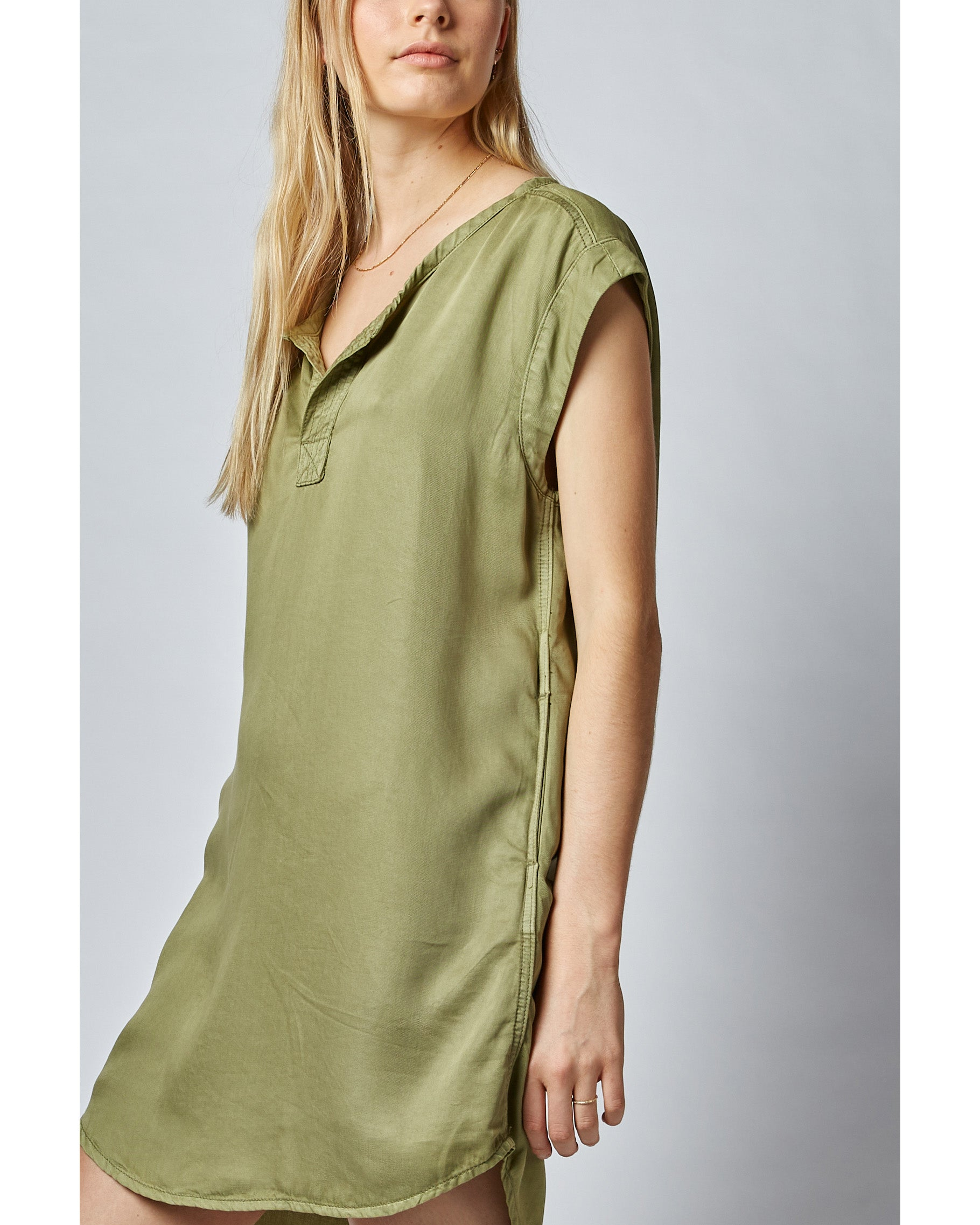 Dricoper Novia Tunic Dress - Khaki
