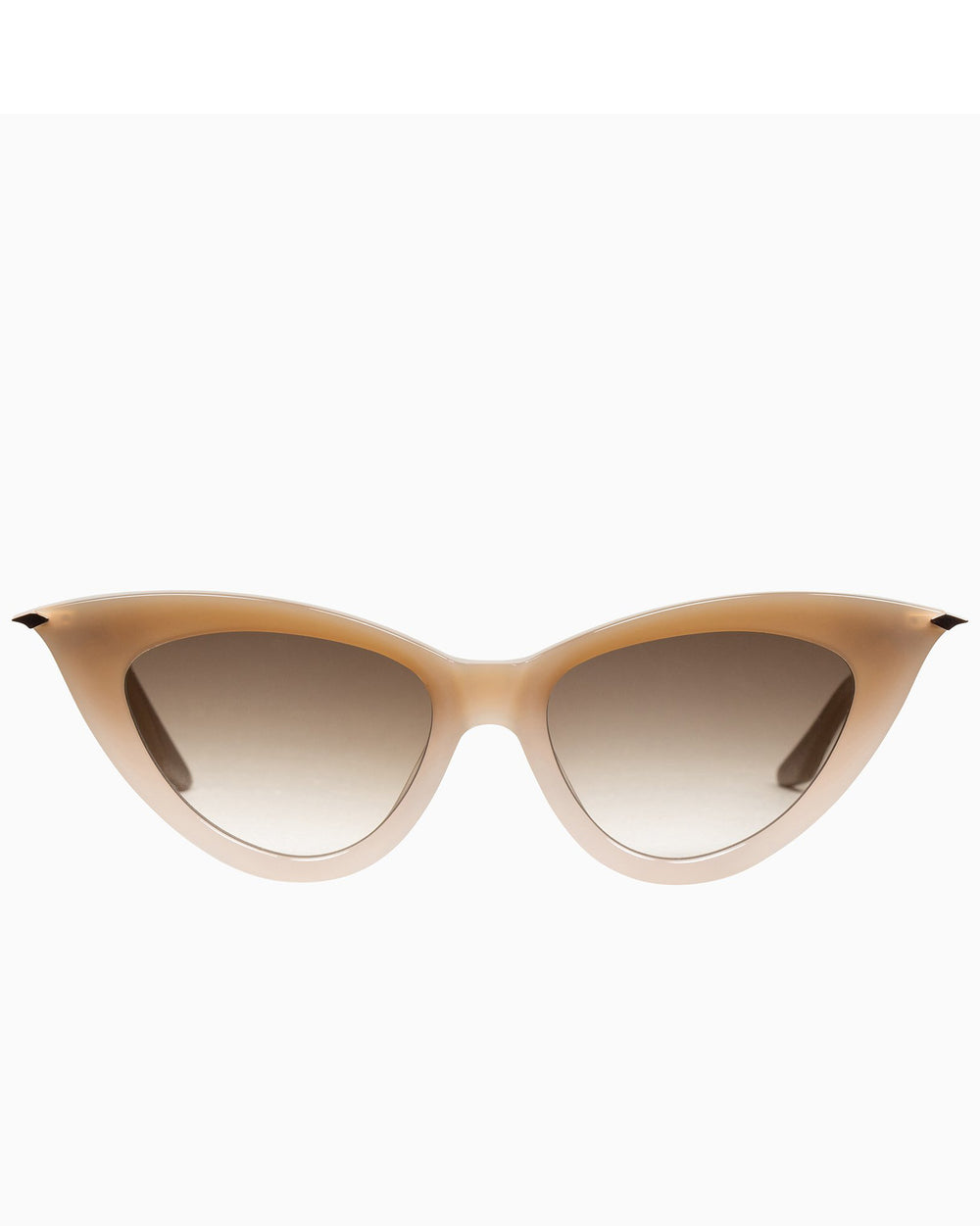 Valley Dagger - Toffee Fade to Ivory w. Rose Gold Metal Trim / Brown Gradient Lens