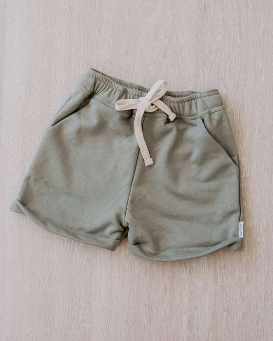 Le Edit Terry Shorts - Seafoam