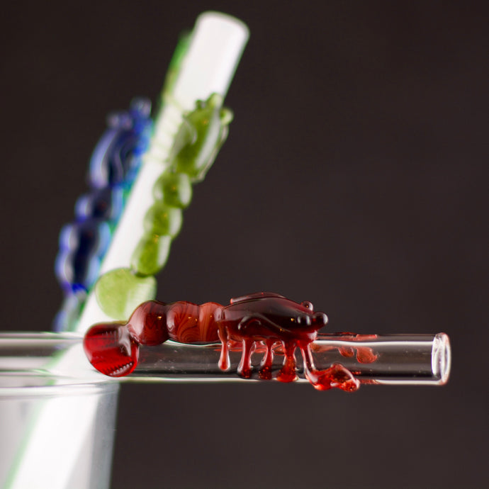 Lobster Glass Straw