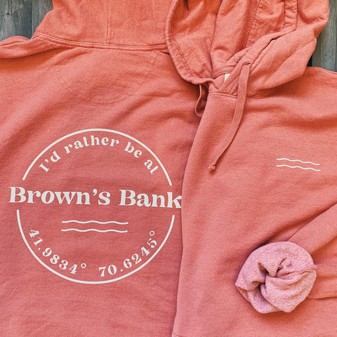 I'd rather be at Browns Bank Sweatshirt - Nantucket Red
